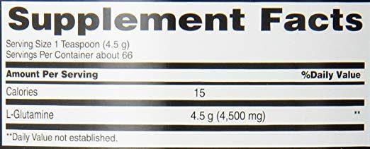 Glutamina 300G Body Fortress spec