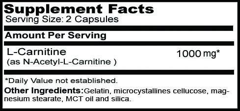 L-Carnitina 60capsulas 1000MG. DK spec