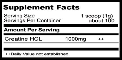 Creatina HCL 100G. DK spec