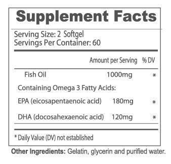 Omega 3 120 capsulas. DK spec