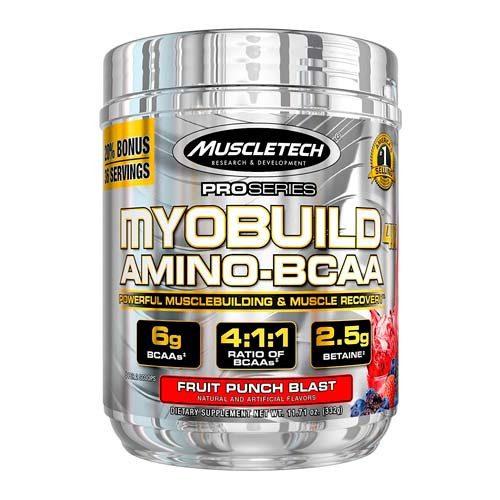 Frontal del producto MyoBuild 4X Amino BCAA. MuscleTech
