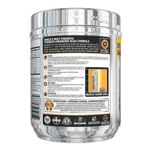 descripción 1 del producto MyoBuild 4X Amino BCAA. MuscleTech